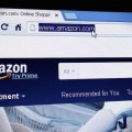 Shopping - Amazon.com homepage on the screen